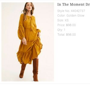 Rare Free people in the moment dress.